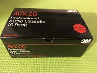 10 Pack AVX 20 Professional Audio Cassette 3M High Speed