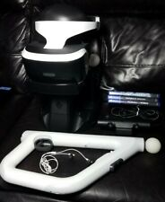 Playstation VR bundle lot: Aim & Move Controllers, PSVR Charging Stand, Camera