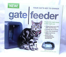 Cat/Dog Feeder GATE FEEDER Smart Feed RFID Sensor Enabled Automatic  -New -Black