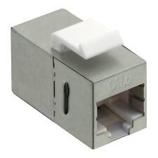Keystone RJ45 LAN Verbinder CAT.6 KAT6 voll geschirmt 2x Buchse Modularkupplung