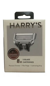 Brand New Sealed Harry's Men's Razor Blade Refills 8 Count - 5 Blade Cartridges
