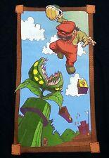 """Plumber vs Piranha"" Super Mario Men's XXXL Shirt Teefury"