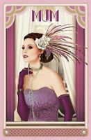Art Deco  ~  Mum ~ Large Luxury Birthday Card for Mother - FREE 1ST CLASS POST
