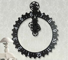 Big Wheel Modern Mechanical Gear Operated Vintage Wall Clock Home Decor GifT