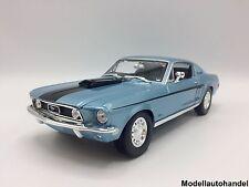 FORD MUSTANG GT COBRA JET - 1968 - blue  - 1:18 MAISTO - UVP 49,99 €