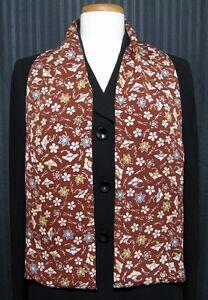 "Scarf Silk Wrap Handmade Vintage Japanese Kimono Fabric ""Fall Collage"""
