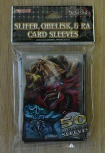 Yu-Gi-Oh! 50 small Card Sleeves Hüllen Egyptian God Slifer, Obelisk & Ra