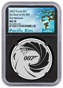 2022 Tuvalu James Bond 007 No Time to Die 1 oz Silver $1 Coin NGC MS70 FR BC