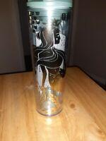 Starbucks 2020 Gold Mermaid Siren Clear Acrylic Cold Cup Tumbler 16 oz
