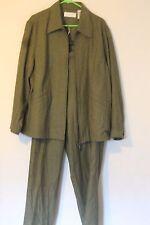 18 Jacket Only Elizabeth by Liz Claiborne Heather Green herringbone Silk & Cotto