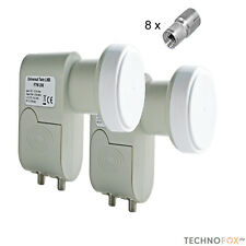2 Stück Digital TWIN LNB LNC LMB 0,1dB HDTV 1080p sky 3D STROMSPAREND nur 160mA