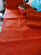 rouille ,2bandes de1,40x0,50 gros tissage jute,un peu plastifié coussins jardin