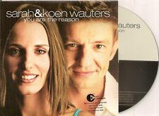 SARAH & KOEN WAUTERS - you are the reason CD SINGLE 2TR CARD 2003 CLOUSEAU