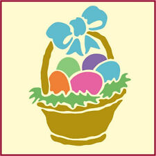 Easter Basket Stencil - Holiday Stencil - New - The Artful Stencil