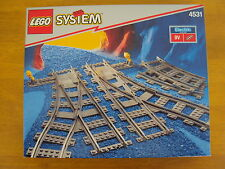 LEGO SYSTEM 9V ELECTRIC TRAIN TRACKS SET 4531 - BRAND NEW IN FACTORY SEALED BOX