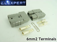 ANDERSON PLUG 50 AMP_BATTERY CONNECTOR_JUMP START_SLAVE ASSIST_X2_GREY_6MM2