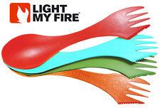 Light My Fire Spork 4 Set Pack Spoon Fork Knife Combo