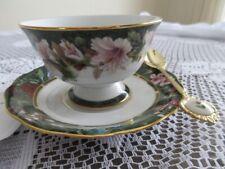 Bradford Exchange Lena Liu's Ruby Throated Hummingbird Cup & Saucer w/Spoon