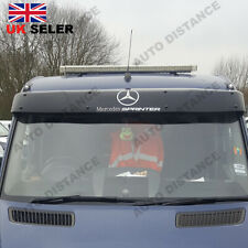 Sun Visor Solid Black Acrylic 2006-2017 WITH VINLY DECAL FOR MERCEDES Sprinter