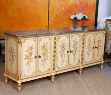 Antique Italian Marble Hand Painted Credenza Sideboard Maple & Co