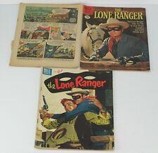 3 Vintage Lone Ranger Dell Comic Books #1, #81, #138