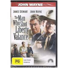 DVD MAN WHO SHOT LIBERTY VALANCE, THE John Wayne Collection B&W Western R4 [BNS]