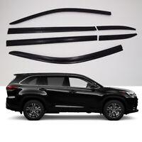 Smoke Weathershield Weather Shield Window Visor 6p for 2014 ~ 2020 Toyota Kluger