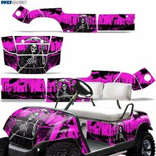 Yamaha Golf Cart Graphic Kit Decal Sticker Parts 2 Seater Wrap 95-06 REAP PINK