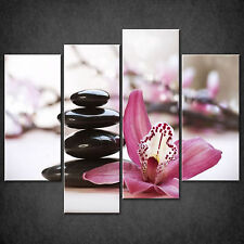 PINK ORCHID ZEN STONES CASCADE CANVAS WALL ART PRINT PICTURE READY TO HANG