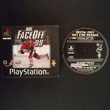 NHL FACE OFF 99 PlayStation UK PAL English・♔・BLOCKBUSTER EX RENTAL complete PS1