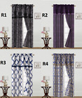 1 SET OR 1PC PRINTED ROD POCKET WINDOW CURTAIN WITH VALANCE AND TIE BACK R'S