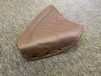 Genuine Leather Lycette Large Seat Cover bsa norton ajs matchless triumph Brown