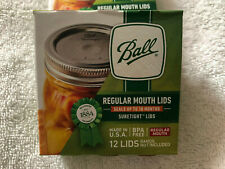 Ball Regular Mouth 12 Pack Canning Lids BPA Free BANDS Not INCLUDED
