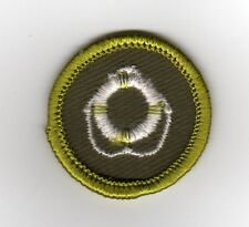 Lifesaving Merit Badge, Type F Rolled Edge Khaki Twill (1961-68), Mint!