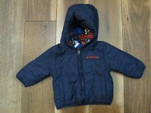 Columbia 1515092 Infant Blue/Multi Reversible Double Trouble Jacket Sz 3-6Months