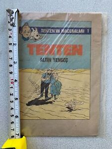 TIN TIN COMIC ORIGINAL Middle East FOREIGN TURKISH EDITION SUPERB RARE