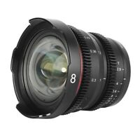 Meike Mini Cine Lens 8mm T2.9 for MFT M4/3 mount OLYMPUS/Panasonic Lumix BMPCC