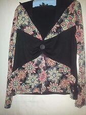 Shouq ladies top black and colours size XL (small XL check measurements)