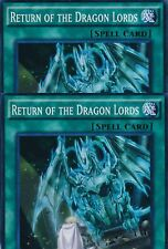 2 X RETURN OF THE DRAGON LORDS -(SR02-EN025)- Super Rare 1st Edition - YuGiOh