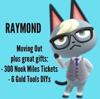 Animal Crossing New Horizons RAYMOND ready to move out plus great gifts