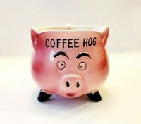 "Vintage ""Coffee Hog"" Mug Anthropomorphic Pink Pig Bradley Creations Coffee Bar"