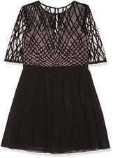 Little Mistress Women's Black Sequin Top Prom Dress UK size 6 New  RRP £82