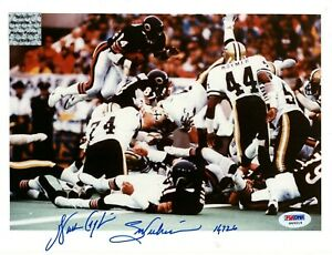 WALTER PAYTON PSA/DNA SIGNED 8X10 PHOTO WITH INSCRIPTIONS AUTOGRAPHED AUTO