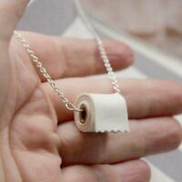 HOT TOILET PAPER Roll Necklace Sterling Link Handmade Silver