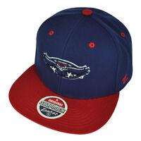 NCAA Zephyr Florida Atlantic Owls Snapback Flat Bill Hat Cap Navy Blue FAU Red
