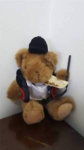 """The Teddy Bear Collection Harvey The Hunstman Soft Cuddly Plush Toy Size 8"""""""