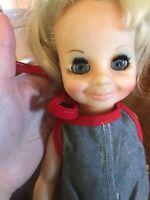 VINTAGE Velvet Of The Crissy Family Doll Blonde Hair 1972 Ideal Doll