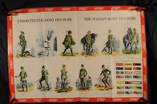 Poster Italian Army Uniforms and Insignia1915-18 winter, cavalry (387Oz)