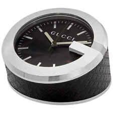 Gucci Preta Padrão De Diamante Mostrador Relógio De Mesa YC210006