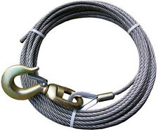 3/8 WINCH CABLE FOR WRECKS AND TOW TRUCKS FIBER CORE 100' WITH SWIVEL HOOK
